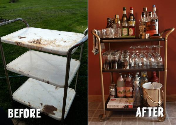 Before & After - Bar Cart