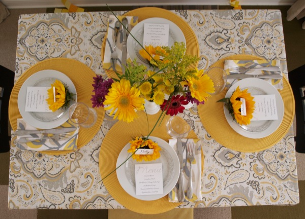 Tablescape from above