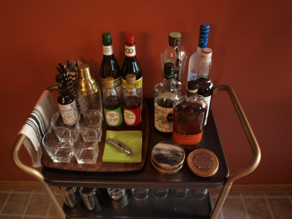 bar cart after from above